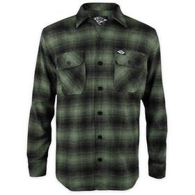Loose Riders LS Flannel Shirt Men, verde/nero